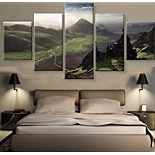 2017 NEW Printed oil paintings landscape 5 Panels Canvas Print Painting Modern Canvas Wall Art for Wall Picture Home Decor Artwork Set Of 5 (no frame) canvas painting 30x40cmx2(12*16inch) 30x60cmx2(12*24inch) 30x80cmx1(12*32inch) SKY-NO114