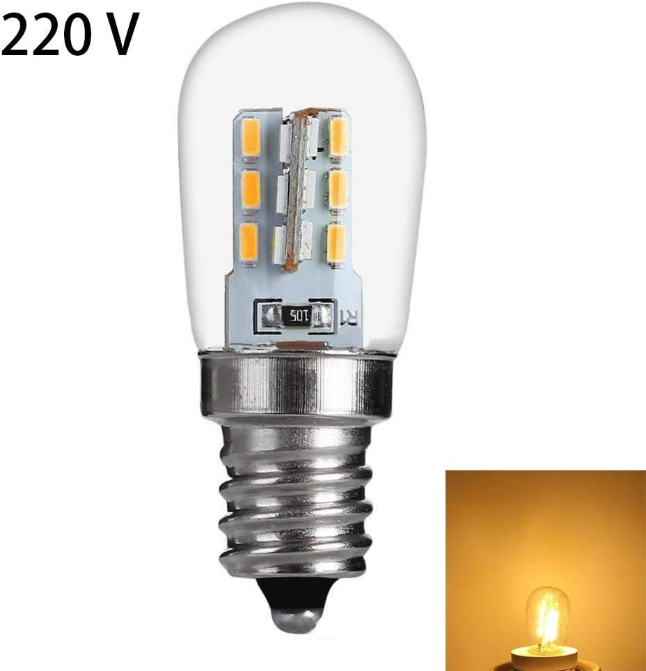 SKYHY224 LED Bulb Energy Saving E12 Base 220V Home Range Hood Light Reading om Super Birght Lamp Glass Refrigerator Restaurant Kitchen 220VWhite