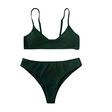 ae455f6ff0 Funic Women s Bikini Set Push up Bikini Bralette Swimwear Cheeky Bikini  Bottom Swimsuit Beachwear Bathing Suit