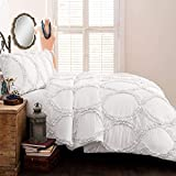 Lush Decor Avon Comforter Ruffled 3 Piece Bedding