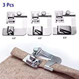 PannySewCraft 3 Sizes Rolled Hem Pressure Foot Sewing Machine Presser Foot Hemmer Foot Set (1/2 Inch, 3/4 Inch, 1 Inch) for Singer, Brother, Janome and Other Low Shank Adapter