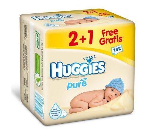 Huggies Pure 192pieza(s) toallita húmeda para bebé - toallitas húmedas para bebé: Amazon.es: Bebé