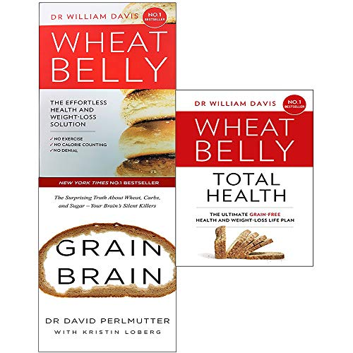 Grain brain, wheat belly and total health 3 books collection set