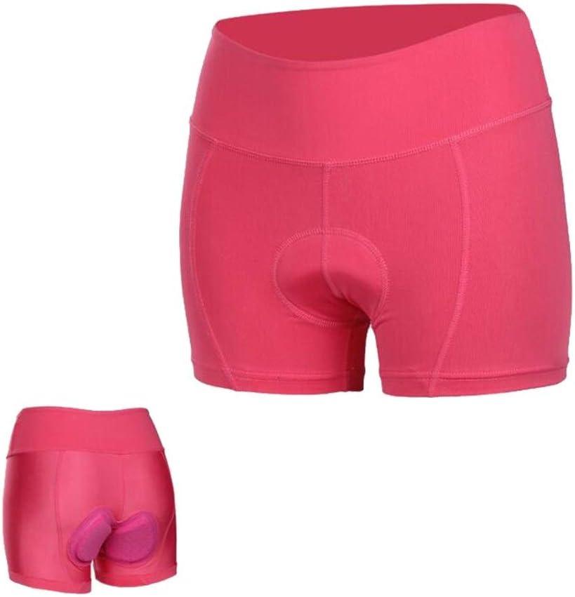 Color : Rojo, tama/ño : XXXL Zjyfyfyf Pantalones Cortos De Ciclismo for Mujer Ropa Interior De Bicicleta De Monta/ña MTB Acolchada con Gel