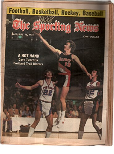 The Sporting News Newspaper January 28, 1978 A Hot Hand Portland's Dave Twardzik GOOD