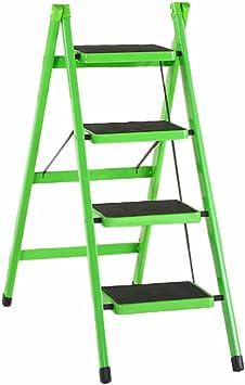 C-J-Xin Escalera de cuatro peldaños, Escalera plegable de dormitorio Oficina de escalera de metal de oficina Tamaño de escalera portátil 42 * 68 * 81 CM Escalera de casa: Amazon.es: Bricolaje y herramientas