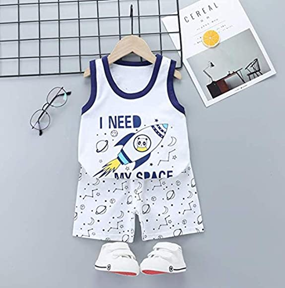 XM-Amigo 8 Pack of Boys Or Baby Boys Sleeveless T-Shirt Vest Tops Shorts Pants Outfits Clothes Sets,Age 6 Months-5 Years