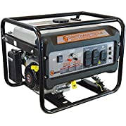 Dirty Hand Tools 101091, 3200 Running Watts/4000 Starting Watts, Gas Powered Portable Generator, EPA & CARB Compliant