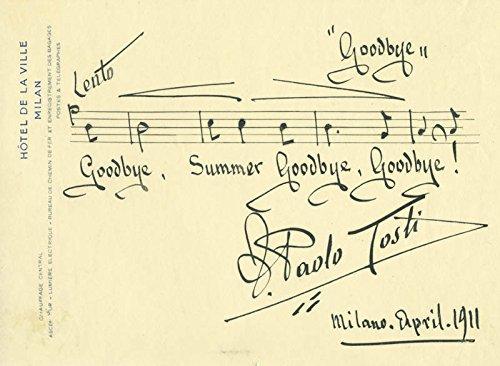Francesco P. Tosti - Autograph Musical Quotation Signed