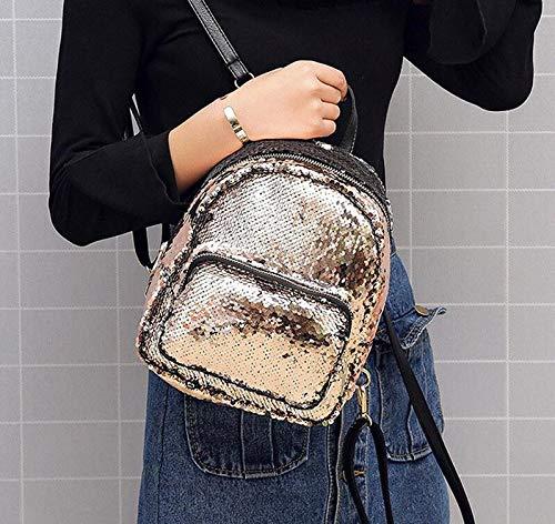Sacoche School Dos Girl Bag À Dos Leather Sequins Rouge Sacs nbsp; Meaeo nbsp;Fresh Femmes À nbsp; Pink Femmes Sac Style 8SwqFCC