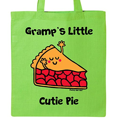 Inktastic - Gramp's little Cutie Pie Tote Bag Lime Green - Flossy And Jim