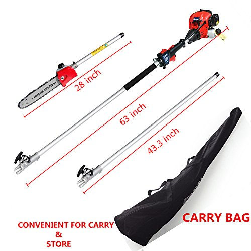 - Maxtra Pole Saw,Powerful Gas Pole Chainsaw 42.7CC 2-Cycle 8.2 FT to 11.4 FT Cordless Extension Pole Saw Tree Trimmer Long Reach Saw