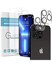 Maxboost 2 Pack Screen Protector Compatible for iPhone 13 Pro Max [6.7 inch] + 2 Pack Camera Lens Protector Tempered Glass Film HD/9H Hardness (w/Alignment Case Tool Included)