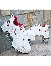 NOLLY Rolschaatsen Rolschoenen Wiel Schoenen Roller Sneakers Schoenen Intrekbare Skateboarden