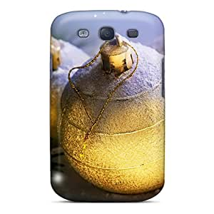 Fashion Tpu Case For Galaxy S3- Golden Christmas Defender Case Cover