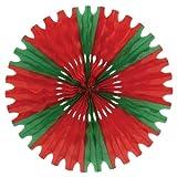 Kitchen & Housewares : Beistle 55293-RG 1-Pack Tissue Fan, 25-Inch