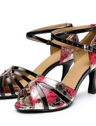 ShangYi Chaussures de danse(Multicolore) -Personnalisables-Talon Aiguille-Similicuir-Latine , multi color-us8.5 / eu39 / uk6.5 / cn40 , multi color-us8.5 / eu39 / uk6.5 / cn40