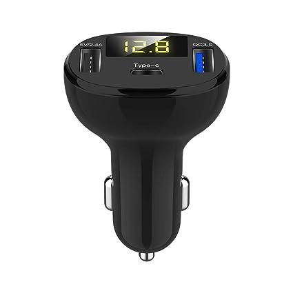 weilinWU Cargador de Coche para Barco, Doble Puerto USB QC 3.0 C ...