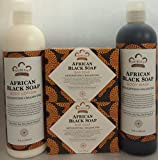 African Black Soap, Lotion & Body Wash Set.. by Nubian Heritage (4 Pack)... iwgl