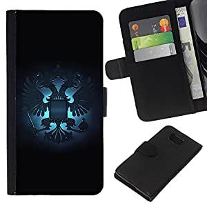 Planetar® Colorful Pattern Flip Wallet Leather Holster Protective Skin Case Cover For Samsung ALPHA / SM-G850 / S801 ( Royal Russian Gryphon Crest )