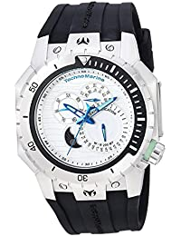 Women's 'Manta' Quartz Stainless Steel and Silicone Casual Watch, Color Black (Model: TM-216008)