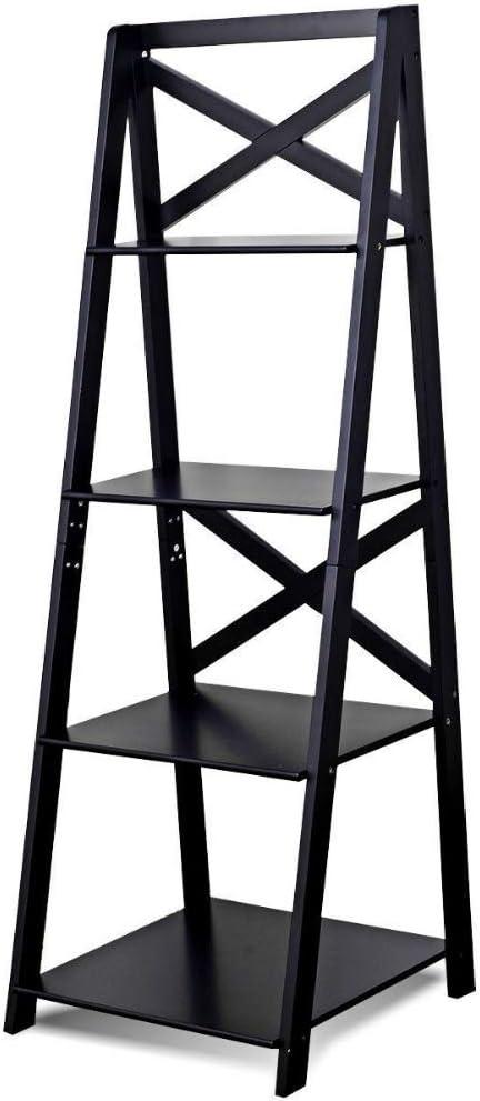 Etagere estantería escalera negra de 4 niveles estante de almacenamiento para sala de estar, baño, cocina, oficina, estantería, Etagere, de pie, ahorra espacio, elegante y eBook por BADAshop: Amazon.es: Juguetes y juegos
