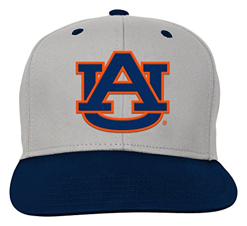 Auburn Accessories Kids Tigers - NCAA by Outerstuff NCAA Auburn Tigers Kids & Youth Boys Grey Two Tone Flatbrim Snapback Hat, Grey, Youth One Size