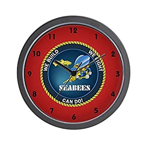 "CafePress - Seabee Clocks - Unique Decorative 10"" Wall Clock from CafePress"