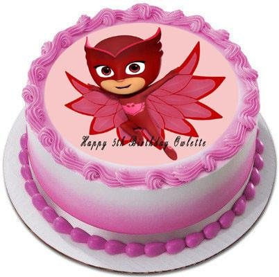 Amazon.com: PJ MASKS Owlette (4) - Edible Cake Topper - 7.5