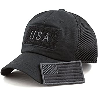 The Hat Depot Low Profile Tactical Operator with USA Flag Patch Buckle  Cotton Cap (USA- Black)  Amazon.in  Clothing   Accessories 74ed48d0321a