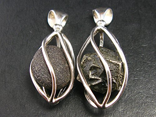 (Rare Boji Stone Pair (Male + Female) Sterling Silver Pendant From USA )
