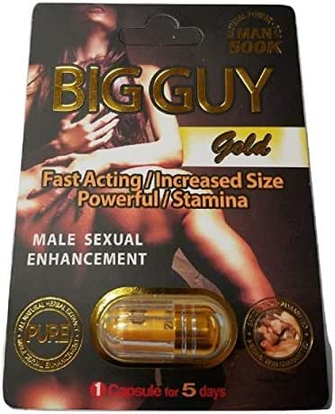Big Guy Gold 500K All Natural Male Enhancement - Fast Acting Increased Size Powerful Stamina (3 Pack)