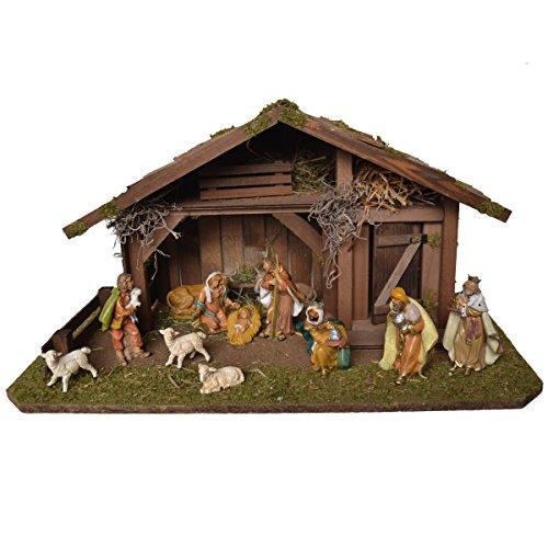Alfred Kolbe Krippen 1331/12 Weihnachtskrippe aus Holz für 10-12 cm Figuren 55 x 30 x 29 cm