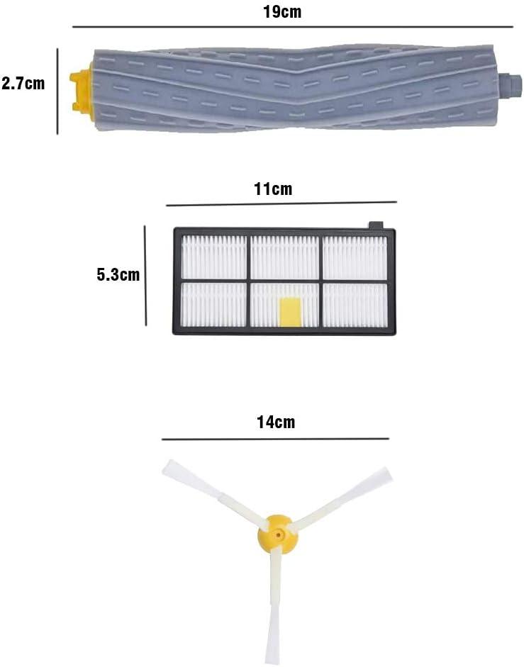 Timker Kit di Ricambi roomba Accessori Spazzola aspirapolvere per iRobot Roomba 800 850 851 860 865 866 870 871 876 880 885 886 890 891 896 900 960 966 980 990 Serie