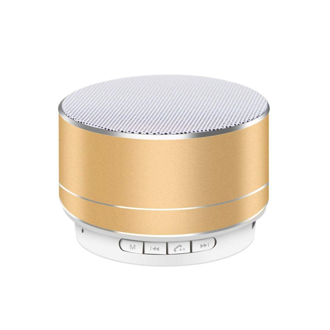 LoveUnder20 スマートフォン タブレット ノートパソコン USB カード ポータブル Bluetooth ワイヤレス スピーカー ポータブル Bluetooth スピーカー, 45mm x 70mm, CVSF036312_GO@#@  ゴールド B07KTT6L7W
