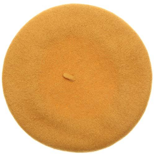 MIRMARU Women's Winter French Style Beret Soft Wool Blend Casual Warm Classic Beret Hats (Mustard) ()