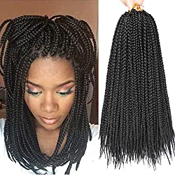 7 Packs 14 Inch Medium Box Braids Crochet Hair Extensions