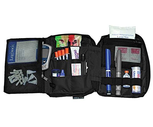 Medicool DIA-PAK Deluxe Diabetic Supply Organizer - Black