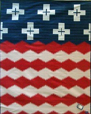 Pendleton Brave Star Blanket Red/White/Blue, One - Stars 100% Wool Felt