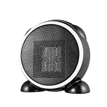 Decdeal 500W Electric Heater Fans,Portable Mini Ceramic Space Heater,ABS Flame Retardant Plastic with Silent Fan,Useful Winter Warmer Fans Home Office Bathroom Desktop Heater