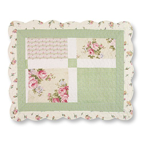 Cottage Bedroom Collection - Collections Etc Miniature Floral Border Cottage Patchwork Pillow Sham