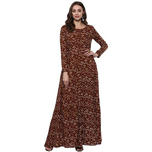 Indian Virasat Kurtis Ethnic Women Kurta Kurti Tunic Multicolouredl Print Top Dress New Casual Wear (Top Dress Kurta Tunic)