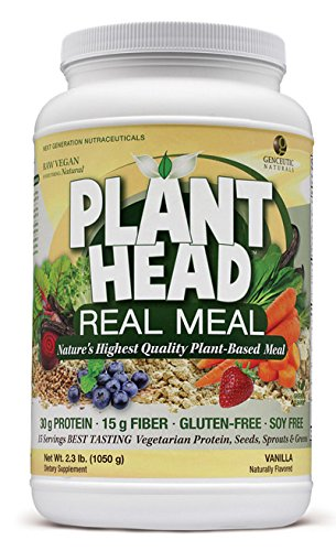 Real Meal (Genceutic Naturals Plant Head Real Meal Dietary Supplement, Vanilla, 2.3 Pound)