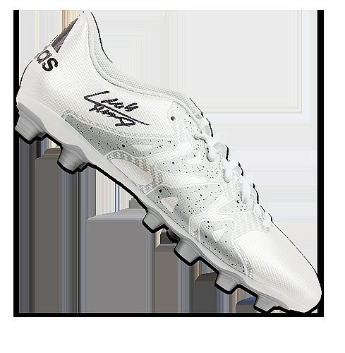 Luis Suarez Autographed Signed White and Silver Adidas X 15.4 Boot -  Certified Authentic Soccer Signature 3efc86974