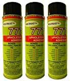 QTY3 Polymat 777 PROFESSIONAL SPRAY GLUE ADHESIVE TACK BONDS FABRIC TO RUBBER