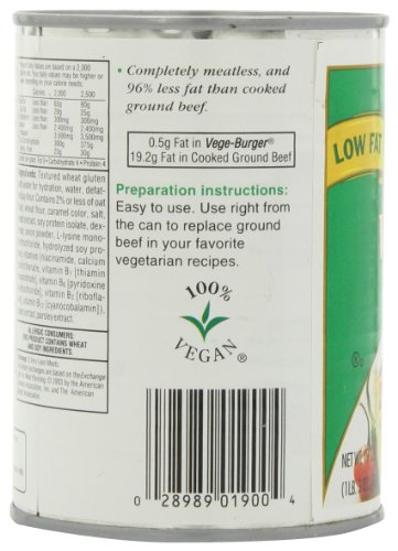 Loma Linda Vege-Burger, 19-Ounce Cans (Pack of 12) by Loma Linda (Image #6)