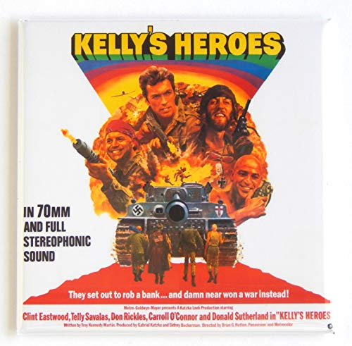 Kelly's Heroes Movie Poster Fridge Magnet (3 x 3 inches)