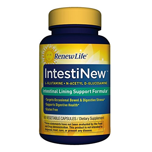 Renew Life - IntestiNew - intestinal lining support - gluten free - dietary supplement - 90 vegetable capsules