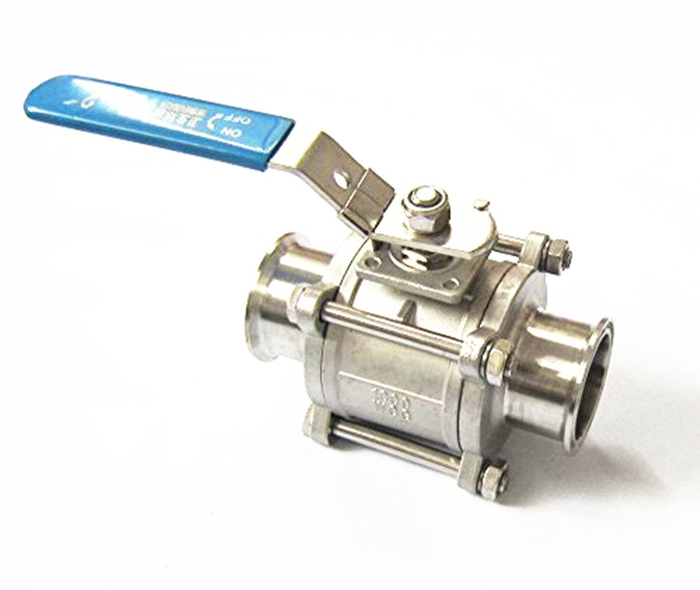 YiFun φ38MM 1.5'' Sanitary Ball Valve - Tri Clamp Clover Stainless Steel 304 by YUCHENG TECH