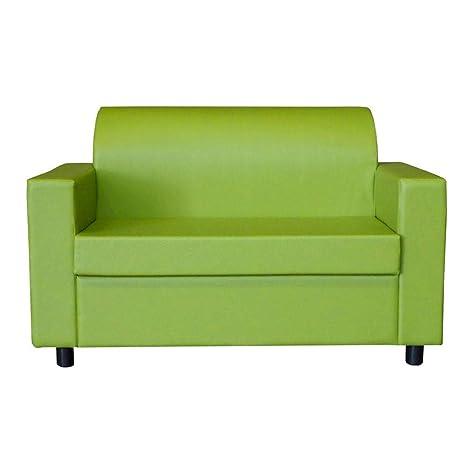 Divanetto Imbottito Design.Visson Divano 2 Posti Con Braccioli Divanetto Attesa Design In Eco Pelle Verde